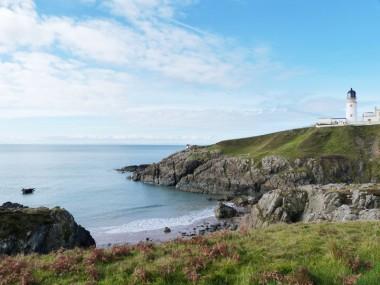 View of Killantringan Lighthouse from coastal path