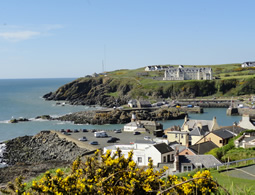 View of Portpatrick from Dunskey Castle Walk