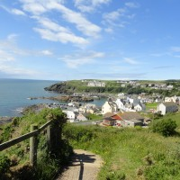 portpatrick from dunskey castle walk
